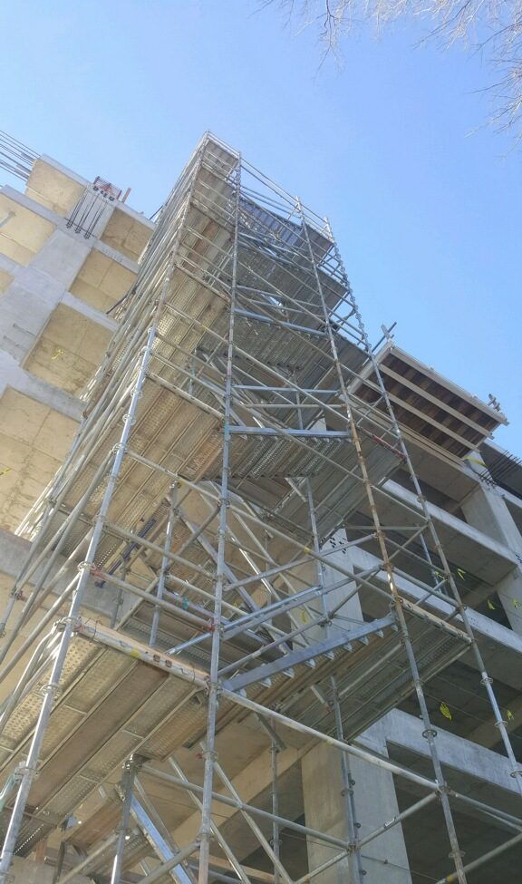 Tutwiller Parking Garage Scaffold 2