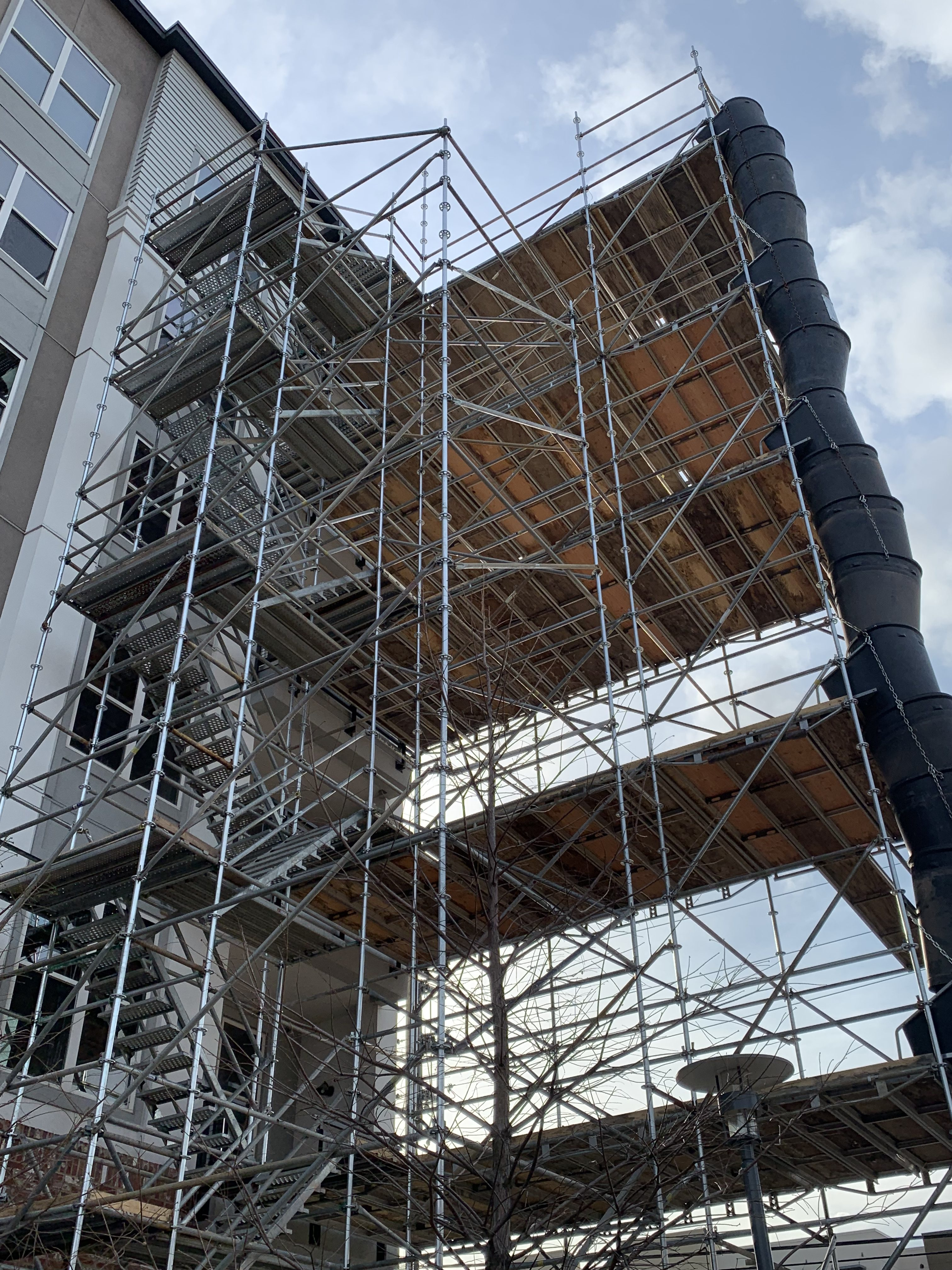 1st Ave S Condo Renovation scaffold 12