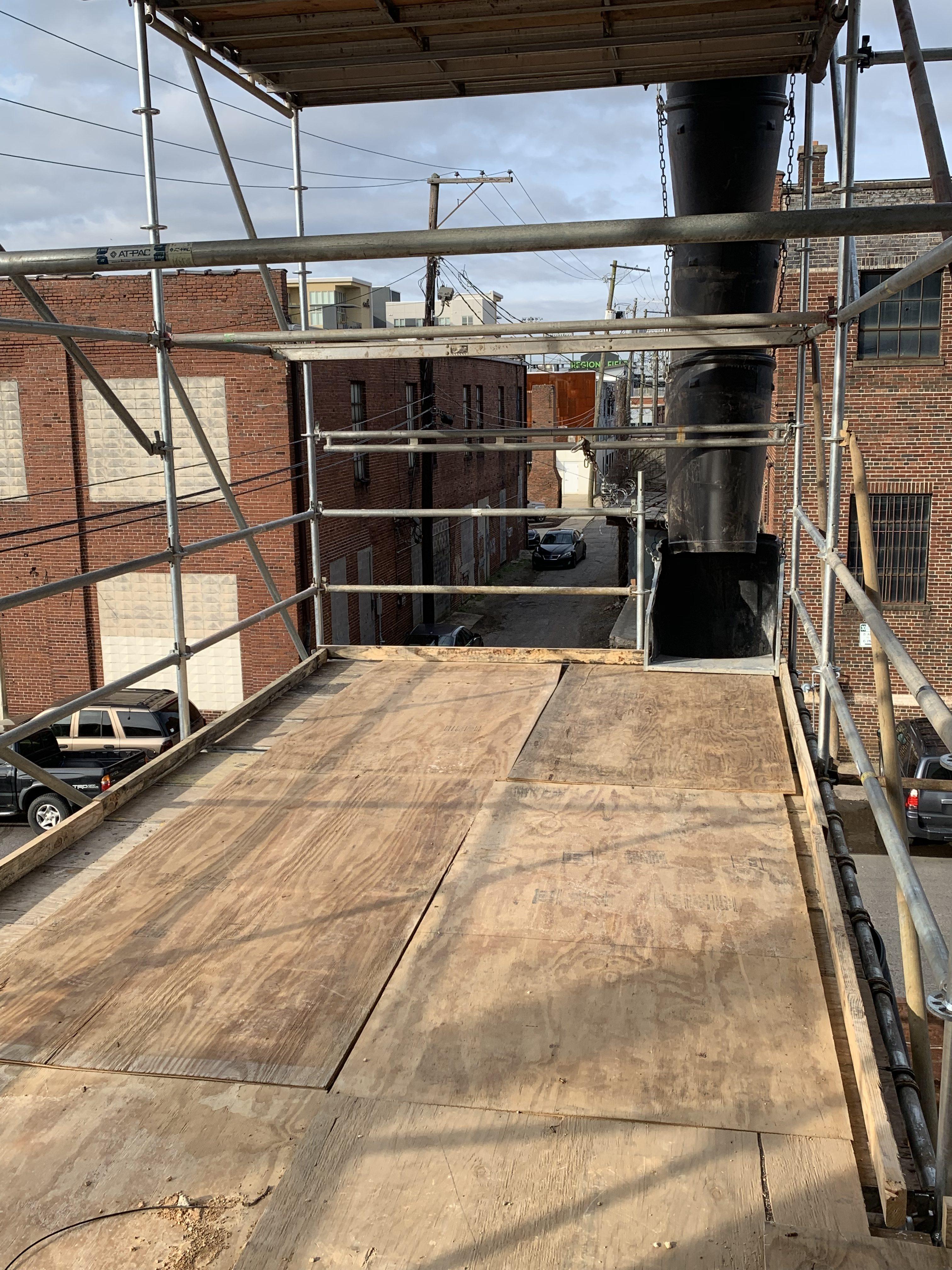1st Ave S Condo Renovation scaffold 8