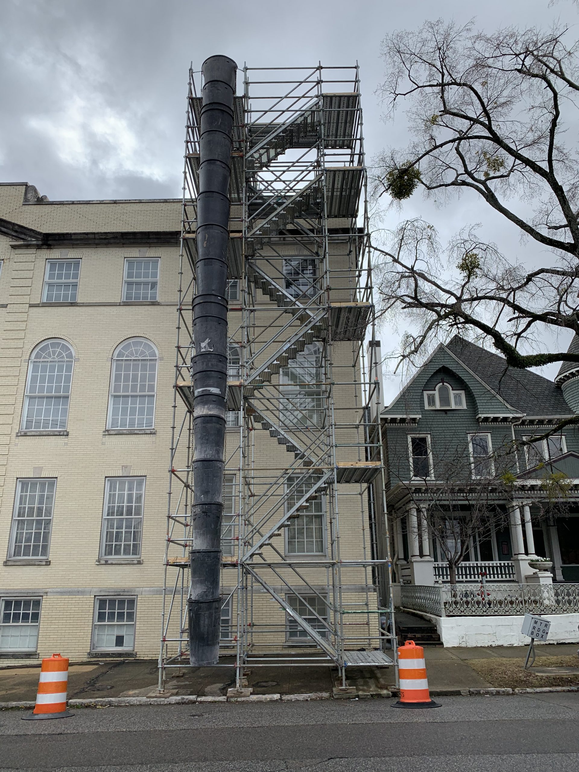 Southside Baptist Stair Tower and Trash Chute Scaffold 3