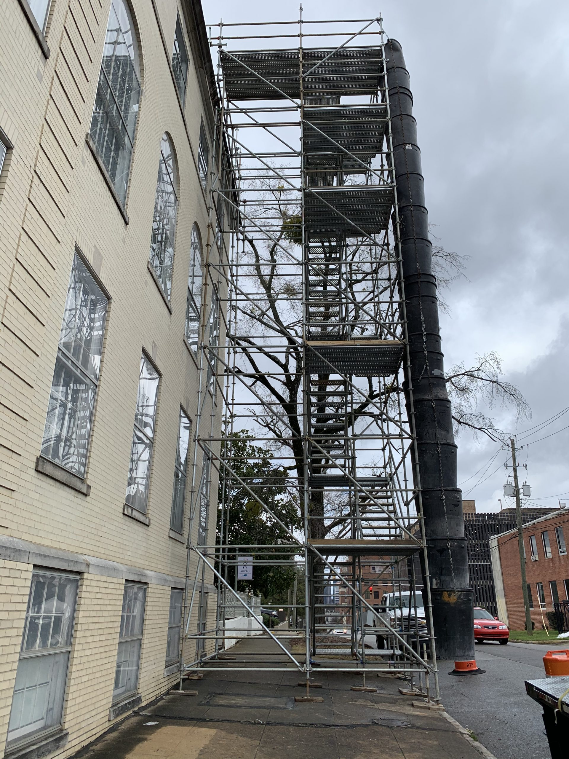 Southside Baptist Stair Tower and Trash Chute Scaffold