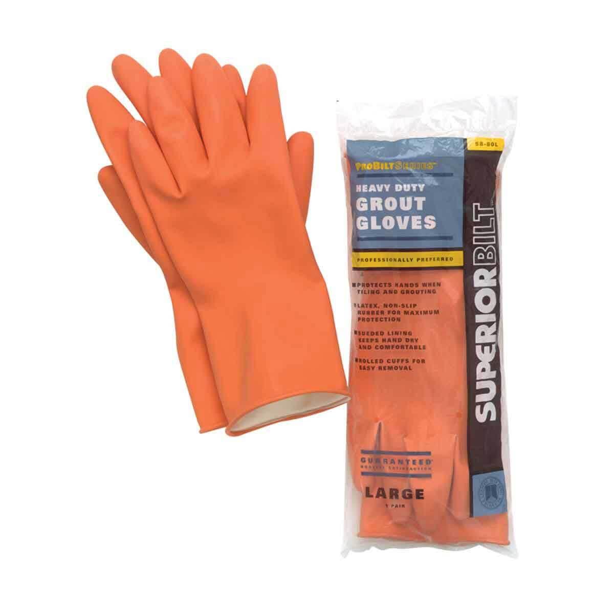 Superiorbilt Heavy-duty Grout Gloves. Contractors Direct