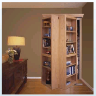 sliding bookcase door hardware