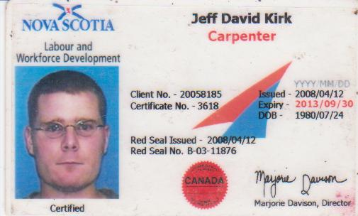 Red Seal Certificate