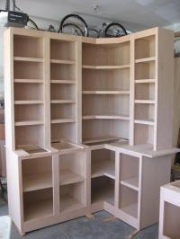 Corner Cabinets W/Bookcases & Desk W/Bookcases - Carpentry ...