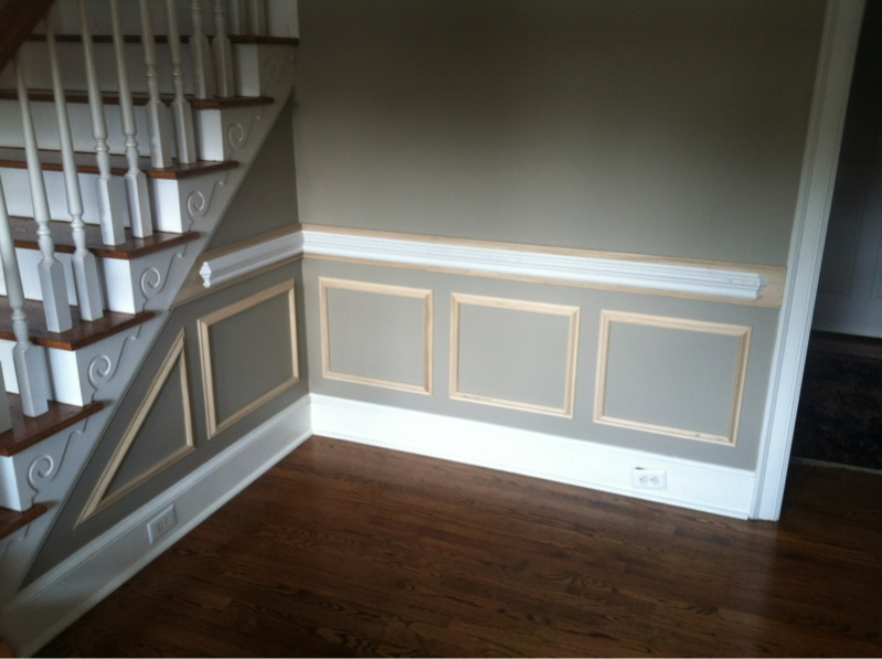 picture frame moulding below chair rail outdoor rocking chairs target and boxes carpentry post