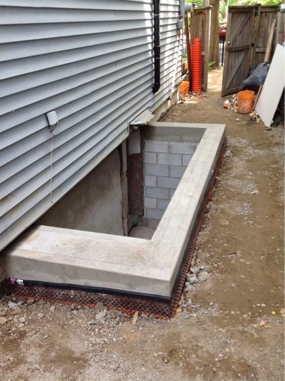 Basement Stairs Outside Page 2 Masonry Contractor Talk | Bilco Precast Basement Stairs | Egress Window | Basement Entry | Precast Concrete Steps | Bilco Doors | Wine Cellar