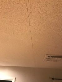 Drywall Ceiling Crack With Railroaded Joint