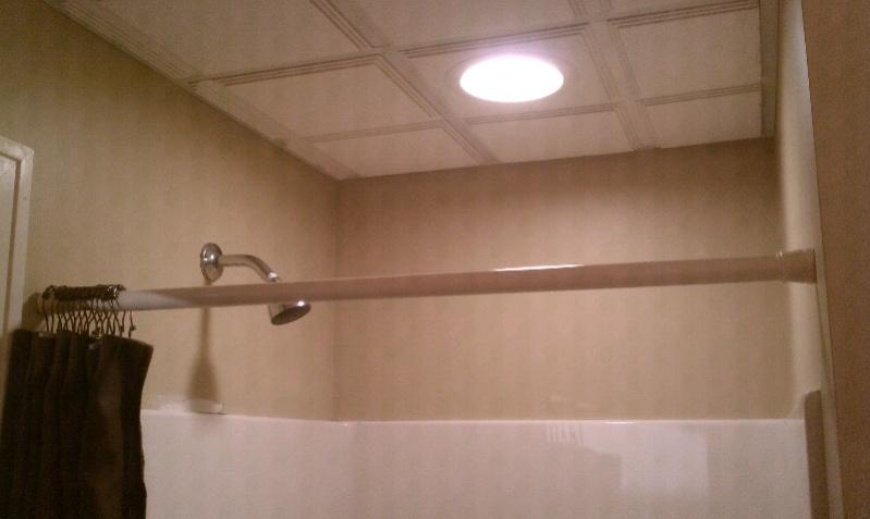 Bathroom ceiling drywall