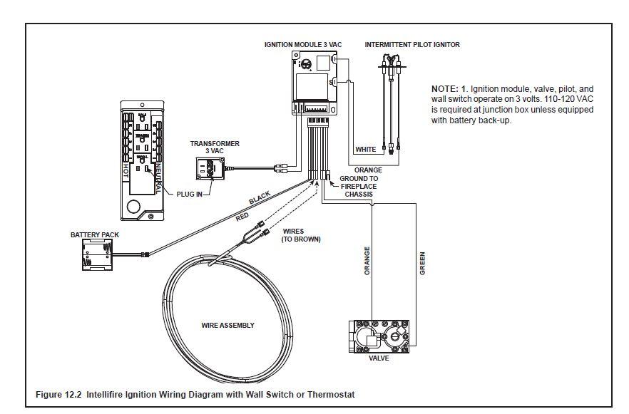 wiring gas fireplace insert