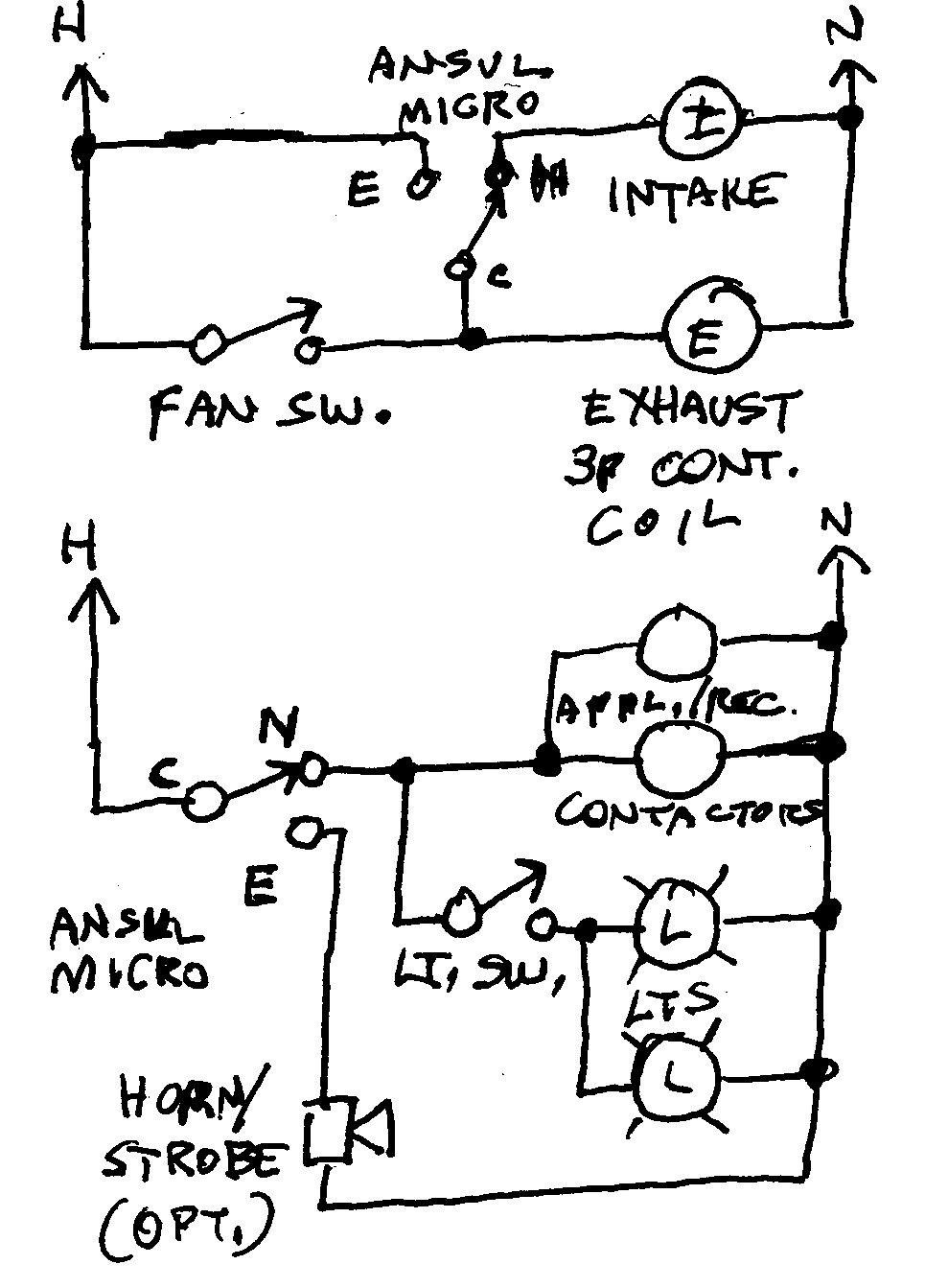 shunt trip breaker wiring diagram for hood 2004 jeep grand cherokee door ansul system - electrical contractor talk