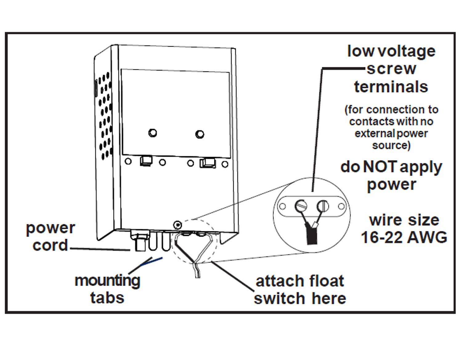 Septic Tank Low Voltage Alarm Float Switch Wiring Diagram