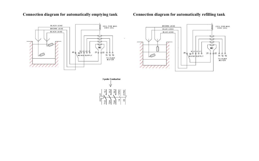 medium resolution of float and pump with contactor