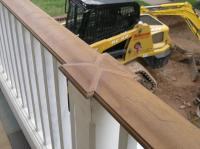 outdoor stair railing wood