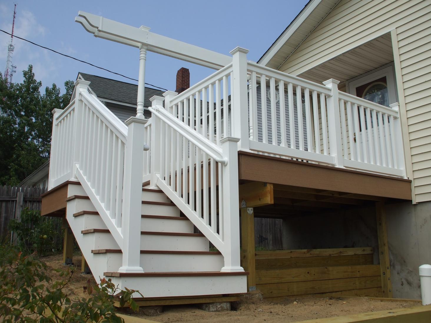 Need Suggestions For Deck Stairs Landing On Grass  Decks  Fencing  Contractor Talk