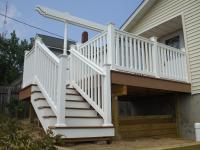 Deck Designs: Deck Stairs With Landing Design