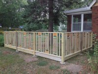 Arched-panel Grouped Baluster Fence - Decks & Fencing ...