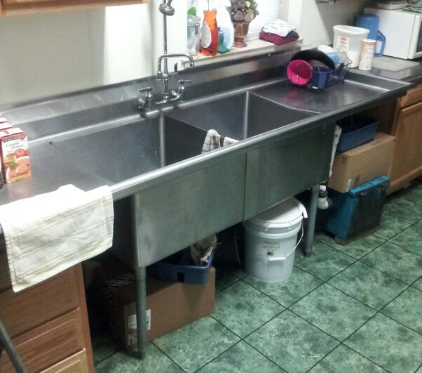 commercial kitchen sink cabinet lazy susan covering a 2 compartment kitchens baths