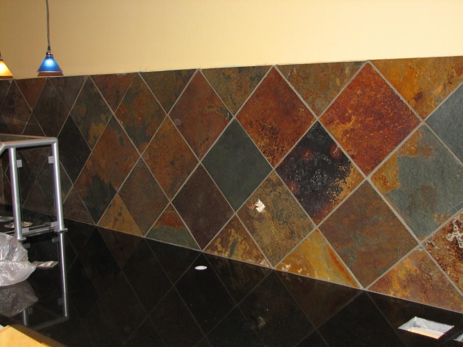 sealing slate floor tiles before