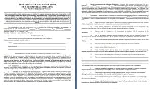 Remodeling Contract Contract Agreements Formats Examples