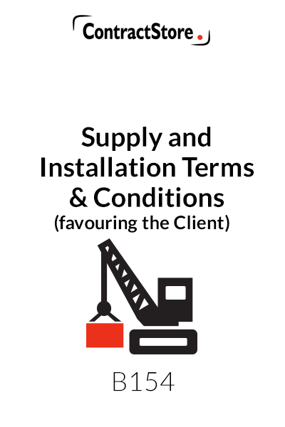 Supply and Installation Contract favouring the Client