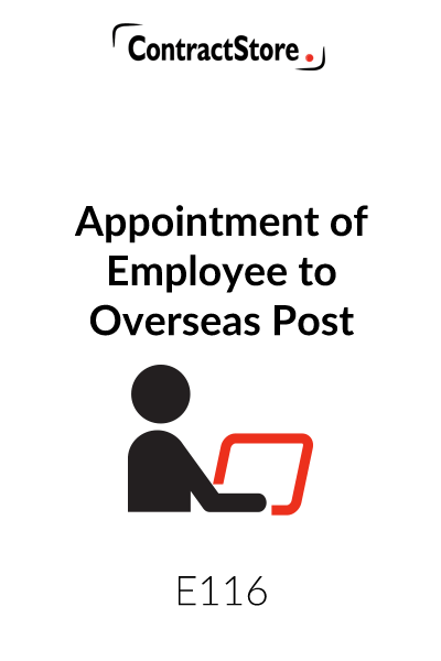 Appointment of Employee to Overseas Post