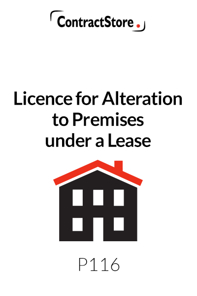 Licence for Alteration to Premises under a Lease