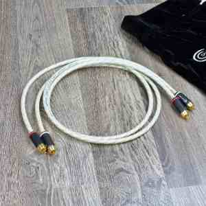Crystal Connect Special Silver Gold audio interconnect cables RCA 1,0 metre 1