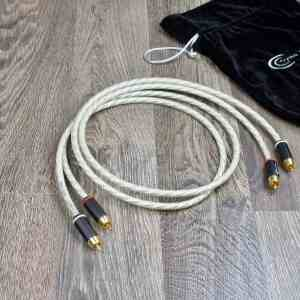 Crystal Connect Special Silver Gold audio interconnect cables RCA 1,0 metre 5