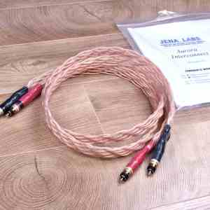 Jena Labs Aurora Gold highend audio interconnects RCA 1,3 metre 1