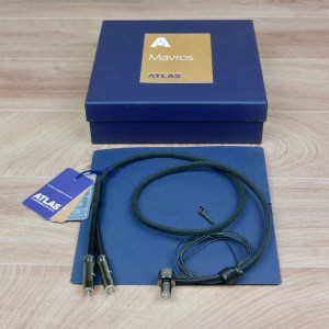 Atlas Mavros Ultra audio Phono Tonearm cable 5-pins DIN-RCA 1,0 metre NEW 1