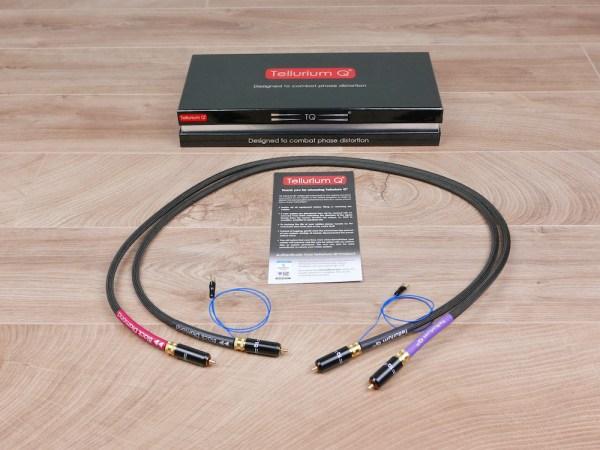 Tellurium Q Black Diamond audio Phono tonearm interconnects RCA 1,0 metre 1