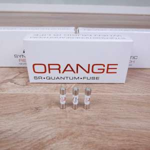 Synergistic Research Orange audio Quantum Fuse 5x20mm Slo-blow 2A 250V (3 available) 2