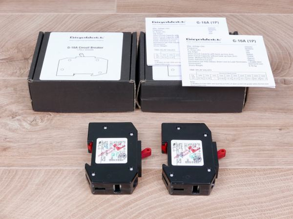 GigaWatt audio G-16A 1P 1-Pole Circuit Breaker NEW 1