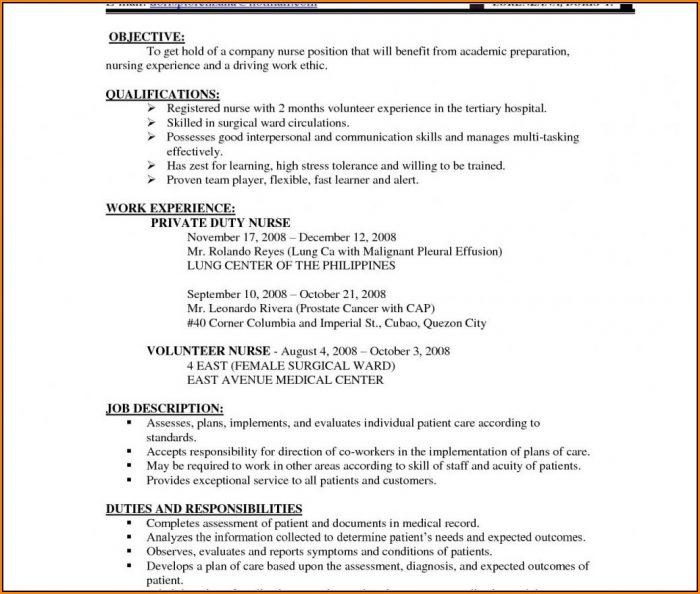 resume format for bsc nursing student