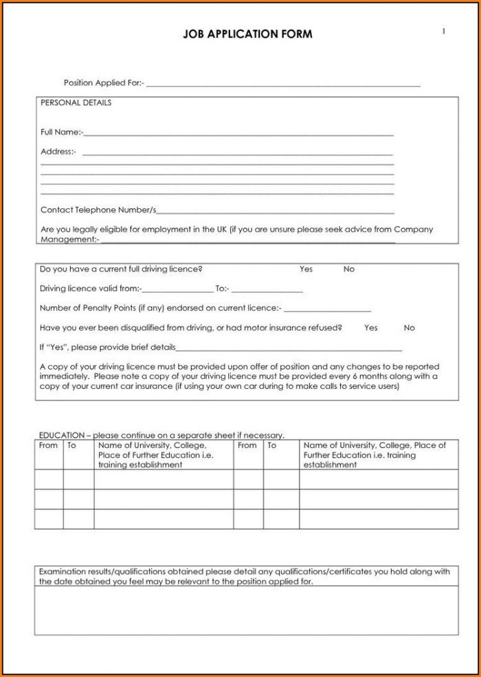 Truck Driver Application Template Job Application Resume Examples EmVKXRA2rX