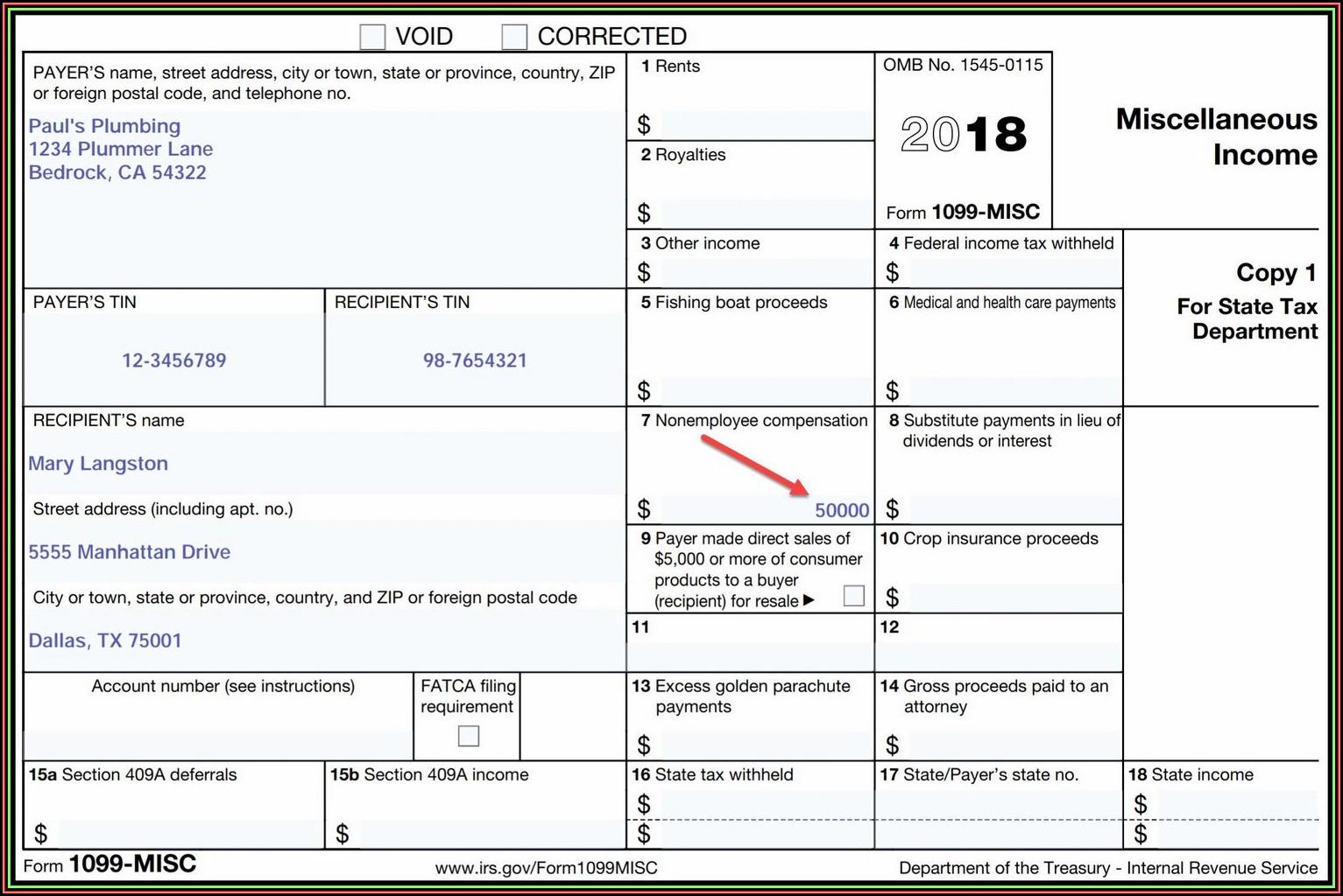 Microsoft Word Tax Form Printable Template