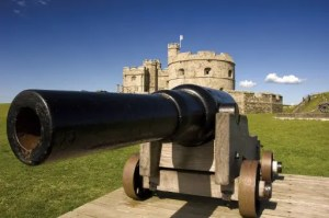 Guns and Cannons at Pendennis Castle, Cornwall for Father's Day