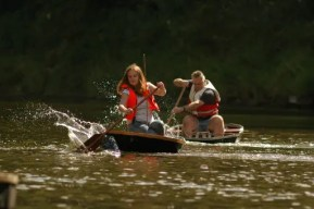 Ironbridge Coracle Regatta, Dale End Park, August bank holiday