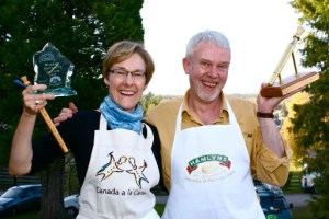 Catherine Caldwell, 2010 Speciality Winner, with Neal Robertson, 2010 Golden Spurtle Winner. Photo: Fergus Thom