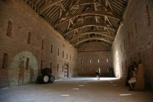 Great Barn interior, Basing House