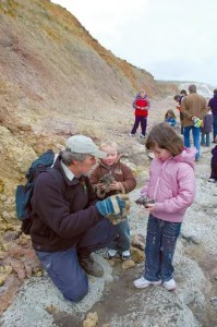 Fossil Hunting Walks, Yaverland Beach, Isle of Wight with Dinosaur Isle