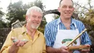 Speciality Winner, Neal Robertson (left) with John Boa, 2011 World Porridge Making Champion. Photo: Fergus Thom
