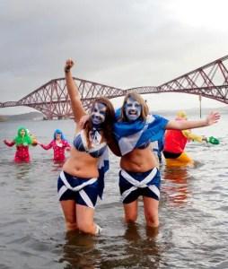 Edinburgh's Hogmanay - The Loony Dook (Photo Lloyd Smith)