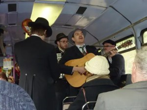 Dr Butler's Hatstand Medicine Band on the Manchester to Hathersage Folk Train