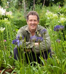 Monty Don with Agapanthus - Malfest, Cheshire
