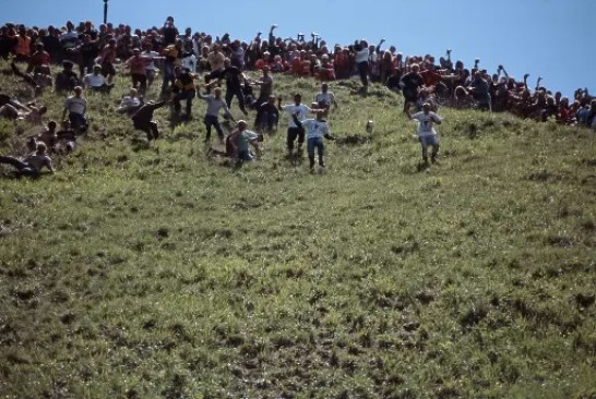 Cheese Rolling at Cooper's Hill, Gloucestershire