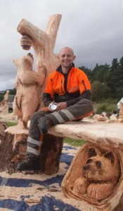 Carve Carrbridge chainsaw carving competition