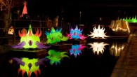 Giant jelly fish, fire performers and illuminated bands for the Lamplighter Festival