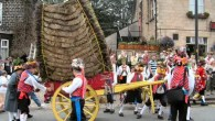 Traditional custom with a unique cart and dancing in the street